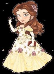 Belle Copic Chibi by AkiAmeko