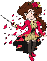 Rose Knight Chibi by AkiAmeko