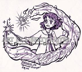 Inktober 06 Hermione Granger by AkiAmeko