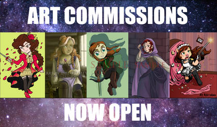ART COMMISSIONS NOW OPEN - Going all Summer! by AkiAmeko
