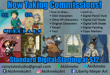 Commission Banner Social Media by AkiAmeko