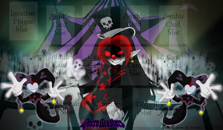 NecroMasters - Darkmoon Circus Game Mat by PlayboyVampire