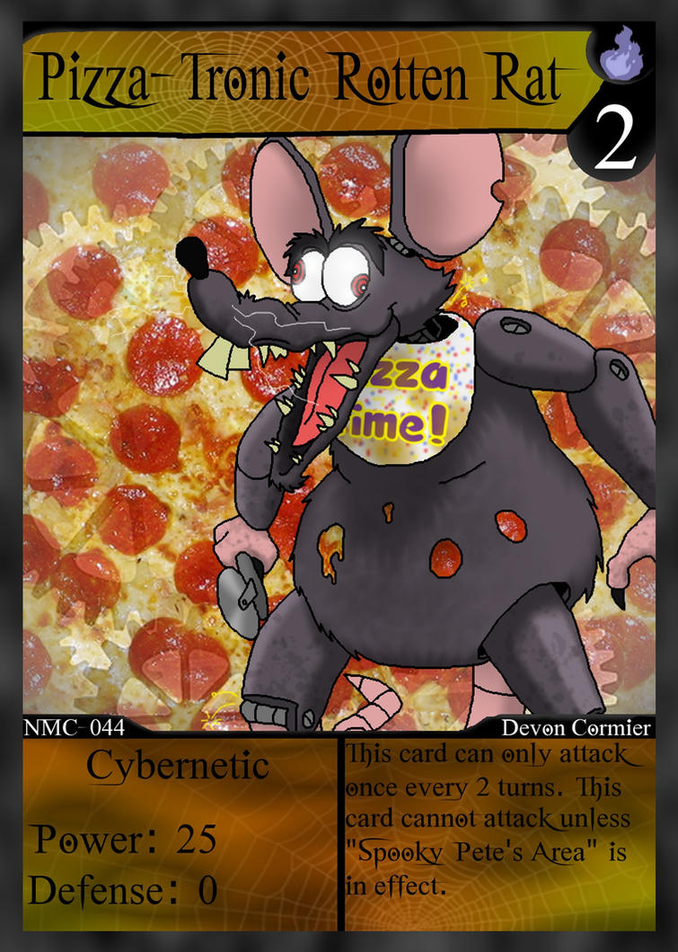 NMC - 044 - Pizza-Tronic Rotten Rat by PlayboyVampire