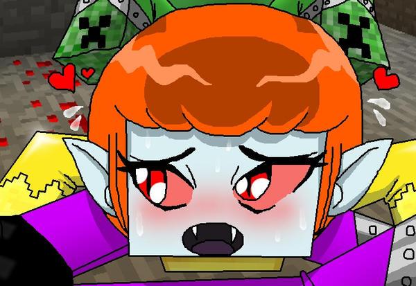 Zoey in Minecraft - Headscissors by PlayboyVampire