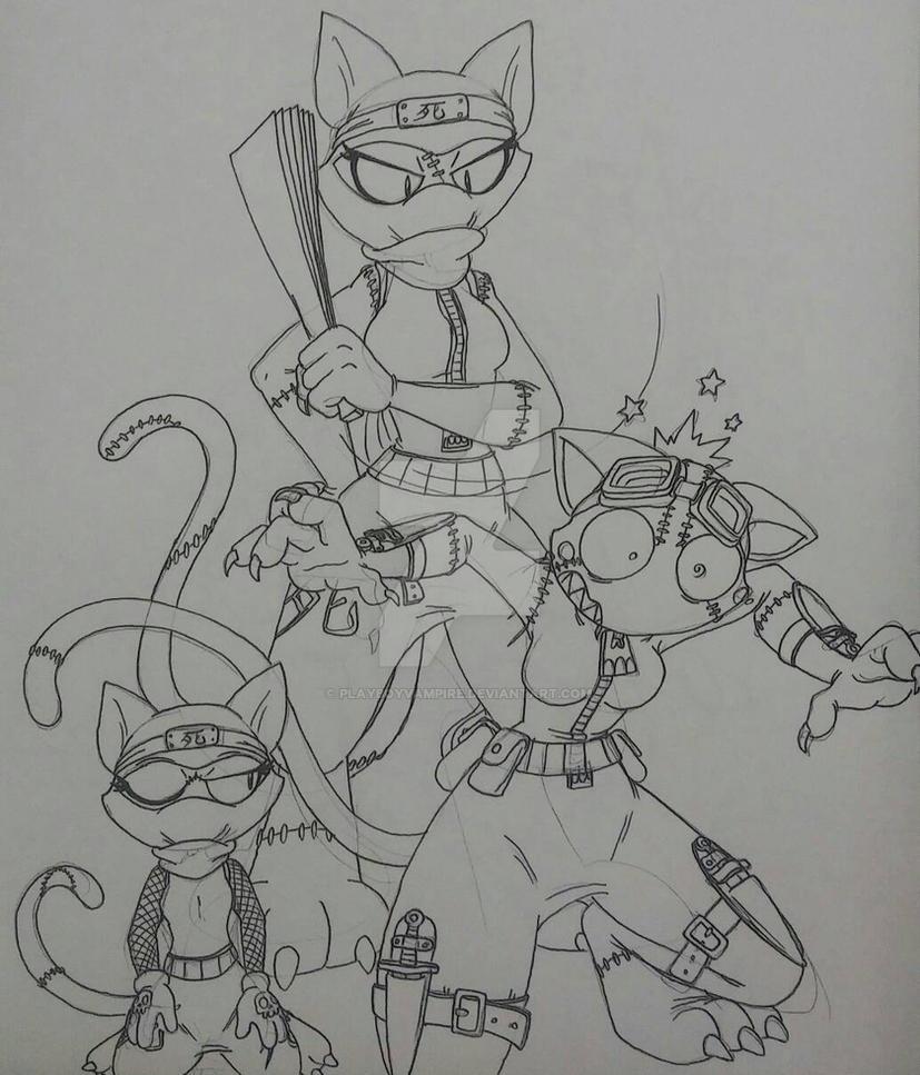 Skeleton - NecroMasters - Ninja Cat Discipline by PlayboyVampire