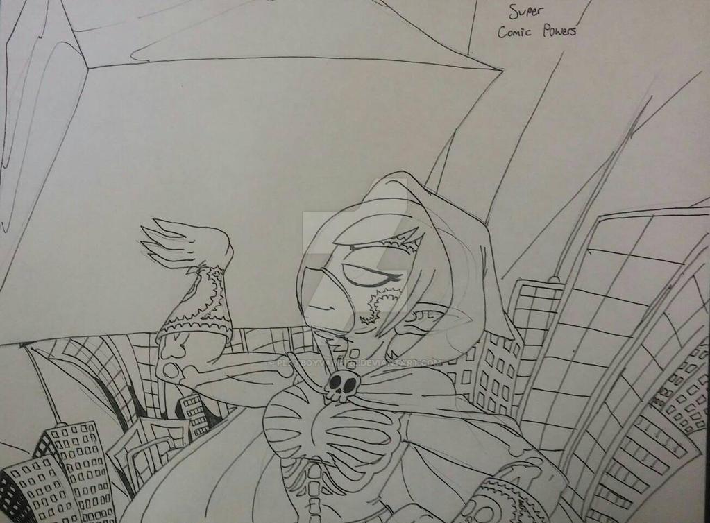 Skeleton - NecroMasters - Super Comic Powers by PlayboyVampire