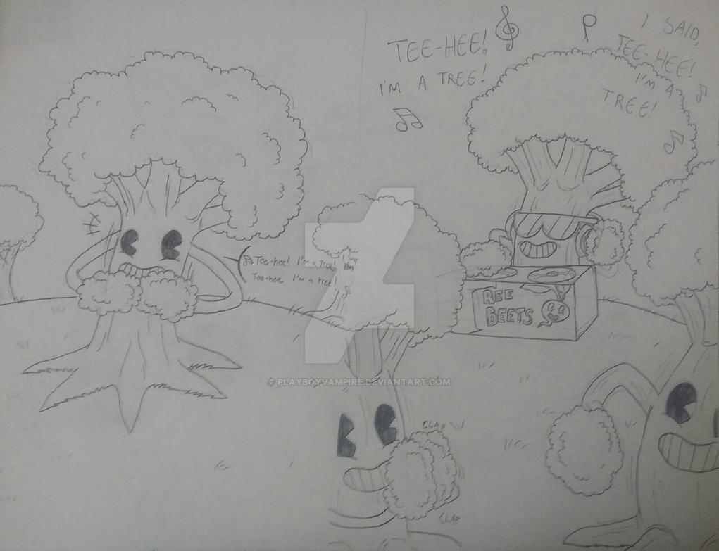 Skeleton - Art Dump - TeeHee, I'm a Tree by PlayboyVampire