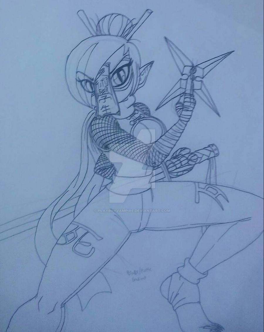 Skeleton - Like a Ninja - Katasuri's Shinobi Suit by PlayboyVampire