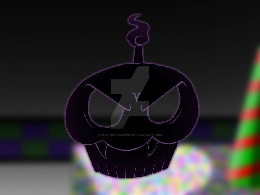 Carl the Vampire Cupcake - Silhouette by PlayboyVampire