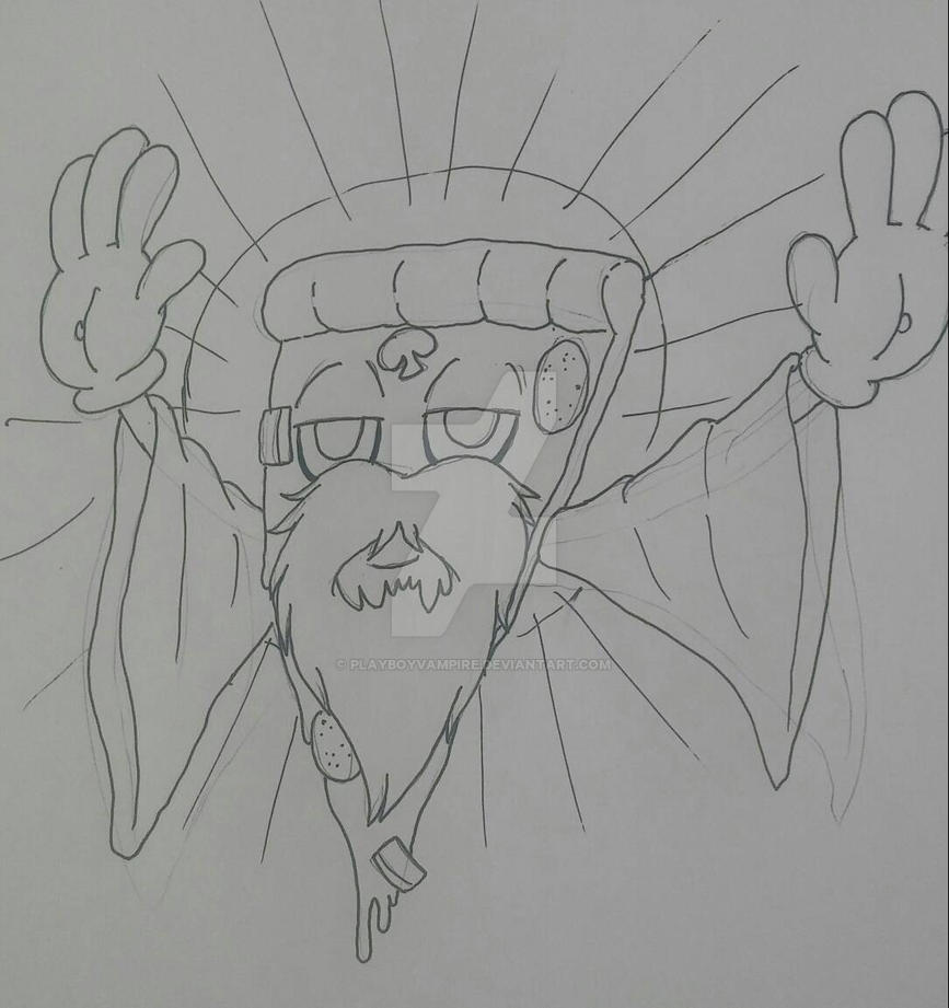 Art Dump - Our Lord and Savior, Cheesus Crust by PlayboyVampire