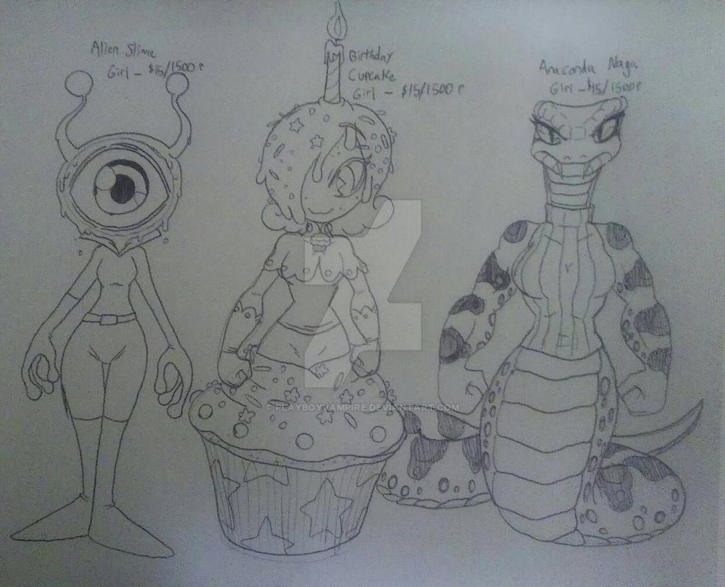 Skeleton - Monster Girl Adoptables 1 by PlayboyVampire