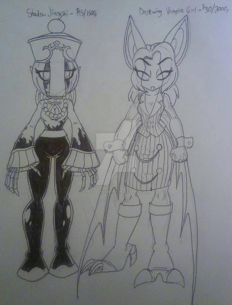 Skeleton - Monster Girl Adoptables 3 by PlayboyVampire