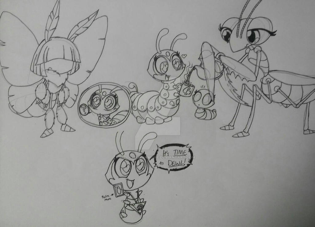 Caterpillar Doodles 7 by PlayboyVampire