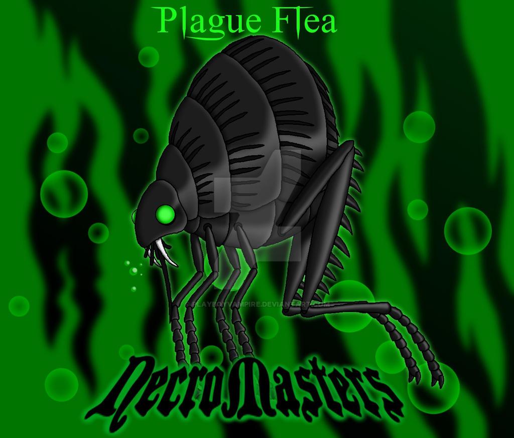 NecroMasters - Card Art - Plague Flea by PlayboyVampire