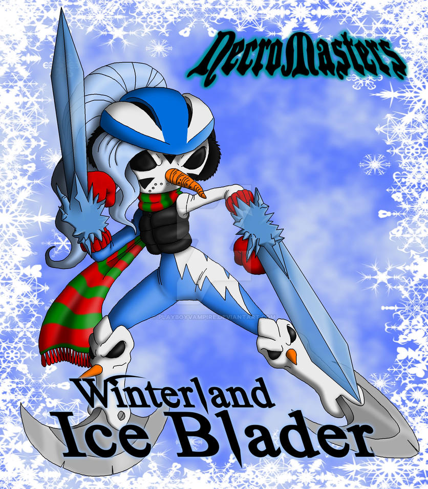 NecroMasters - Card Art - Winterland Ice Blader by PlayboyVampire