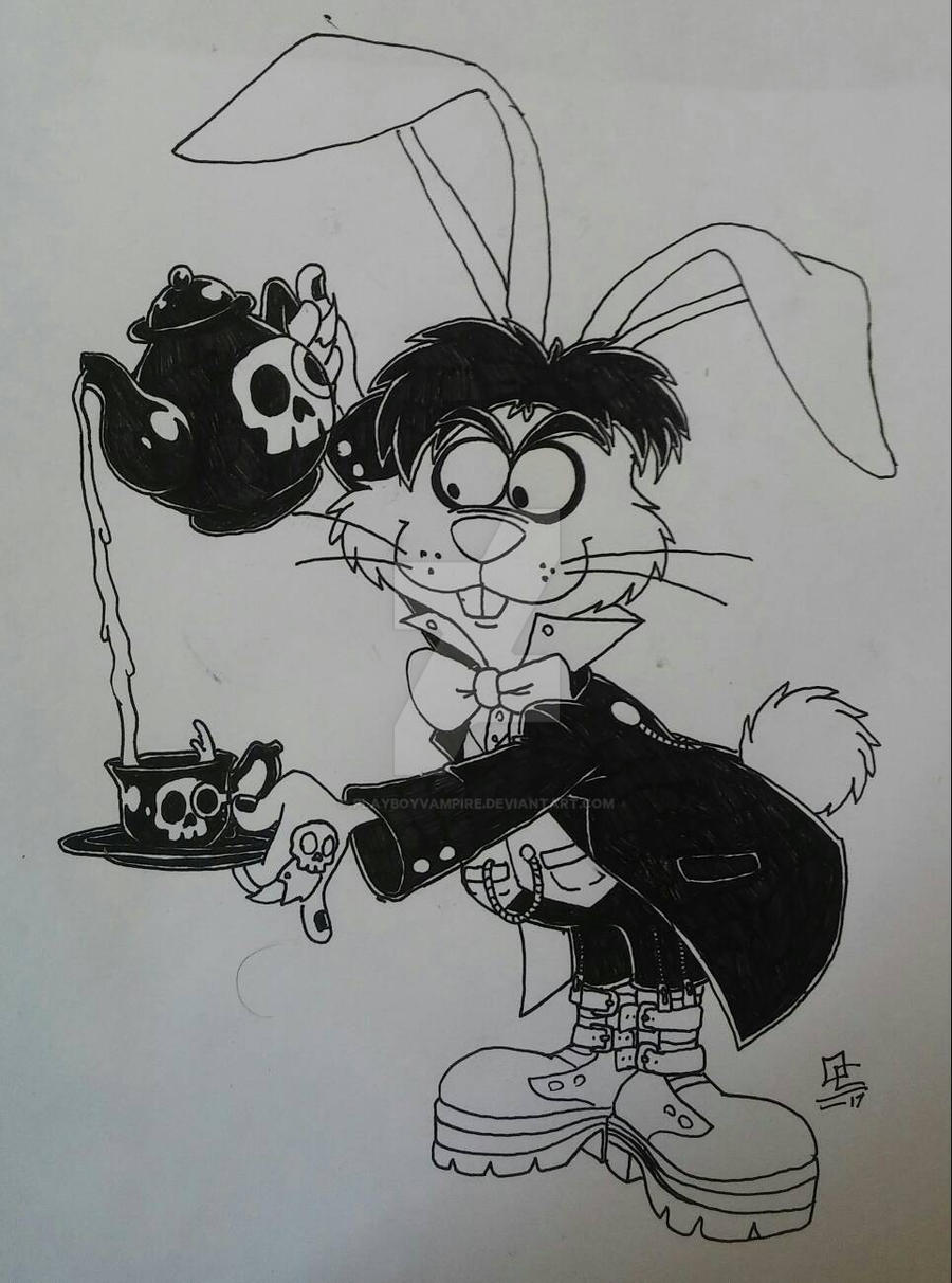 Gothic March Hare by PlayboyVampire