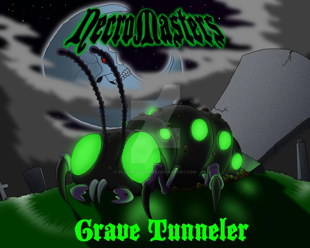 NecroMasters - Card Art - Grave Tunneler by PlayboyVampire