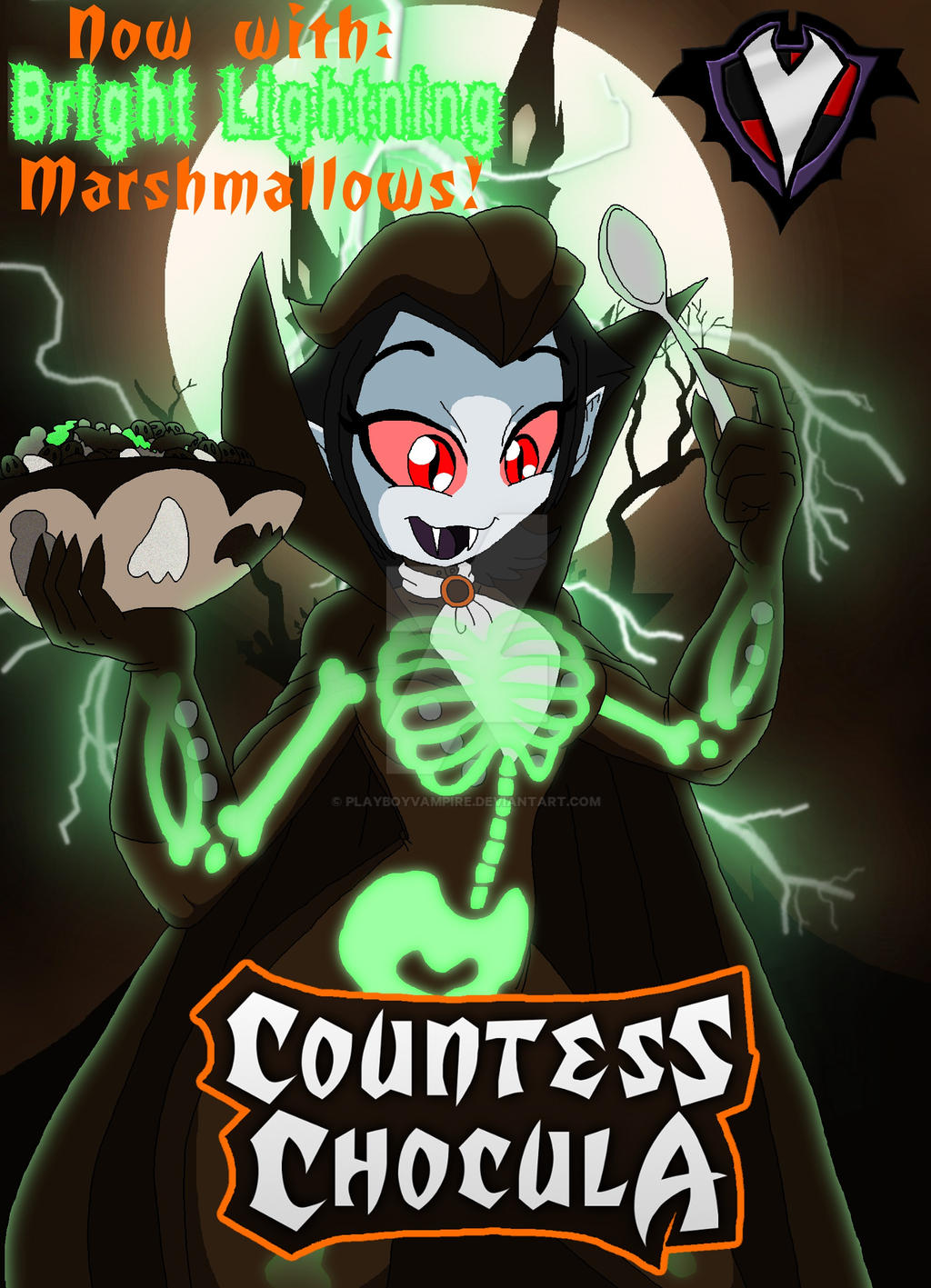 Countess Chocula - Glow-in-the-Dark by PlayboyVampire