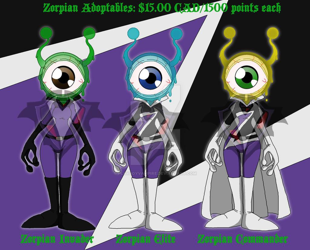 Zorpian Alien Adopts - OPEN - by PlayboyVampire