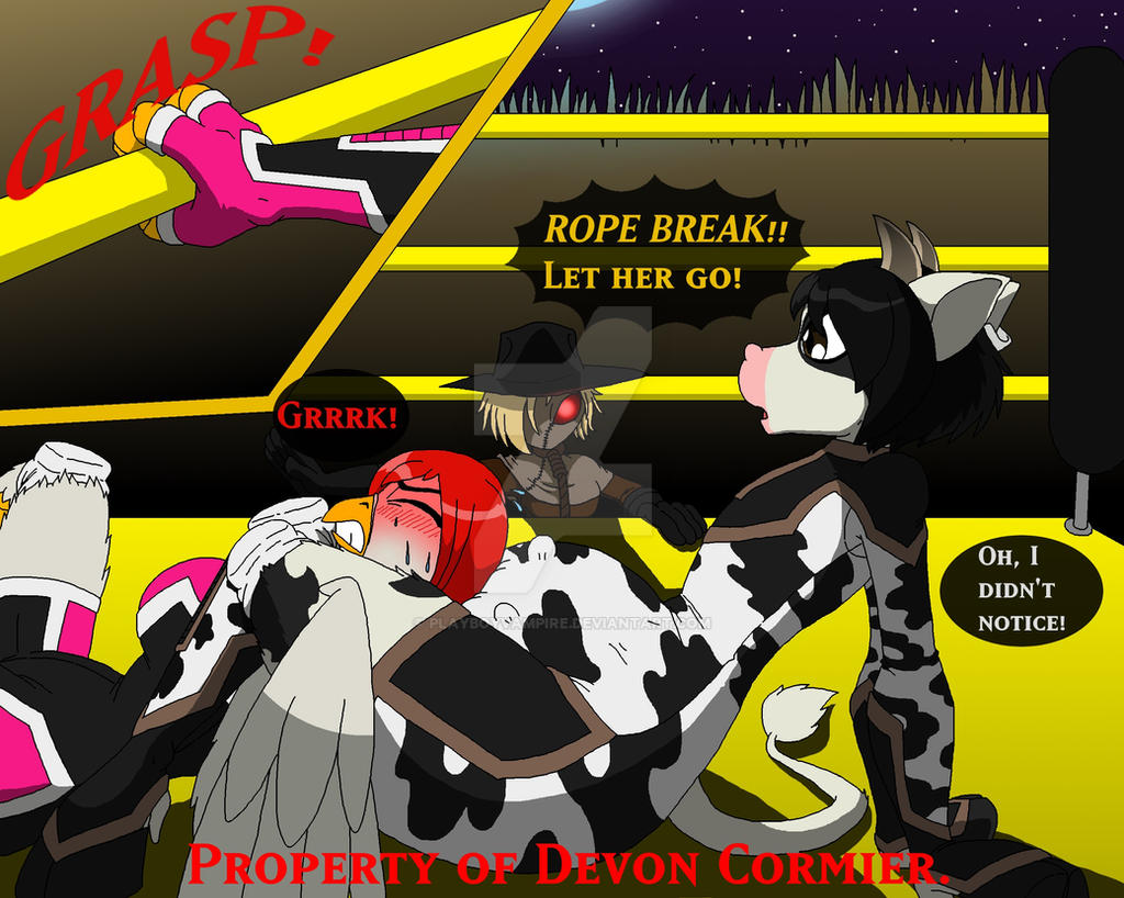 Farmyard Wrestling - Rope Break! by PlayboyVampire
