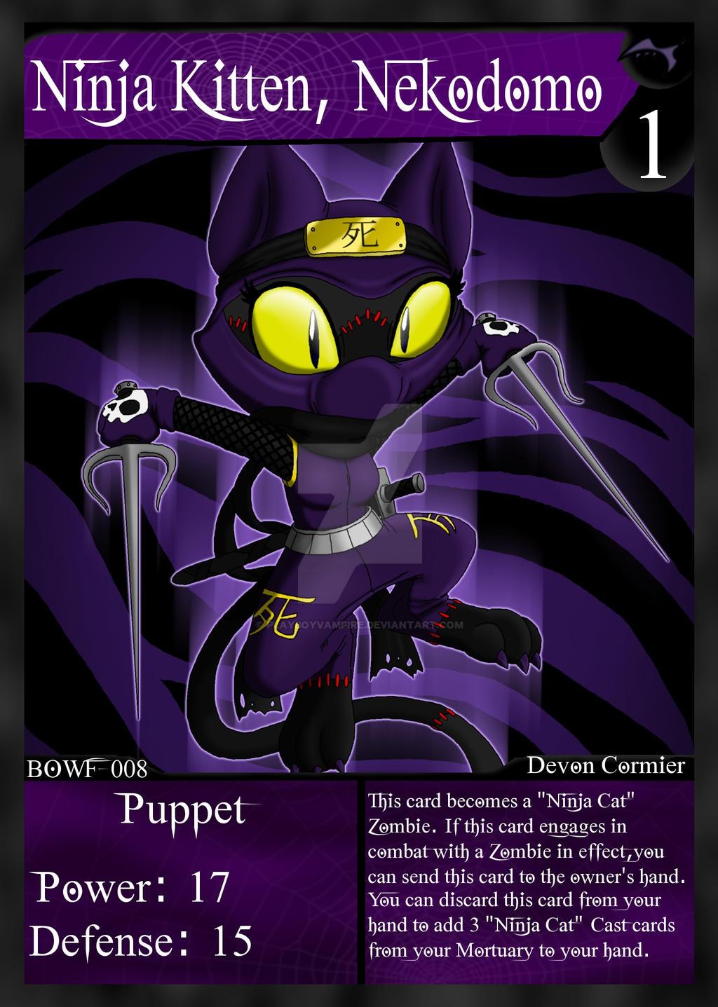 NecroMasters - BOWF - 008 - Ninja Kitten, Nekodomo by PlayboyVampire