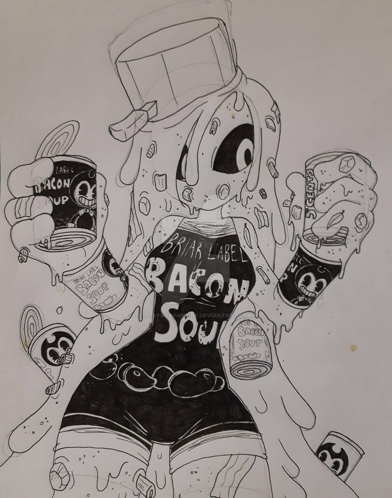 Skeleton - Bendy and the Ink Machine - Bacon Soup by PlayboyVampire