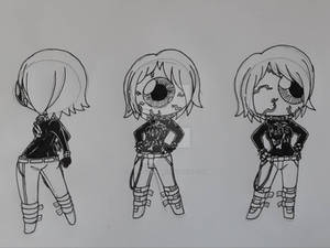 Skeleton - Chibi - Iris Horrorgaze's Goth Costume