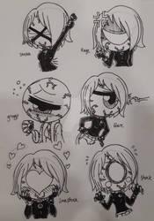 Skeleton - Chibi - Iris Horrorgaze's Emotes - 1