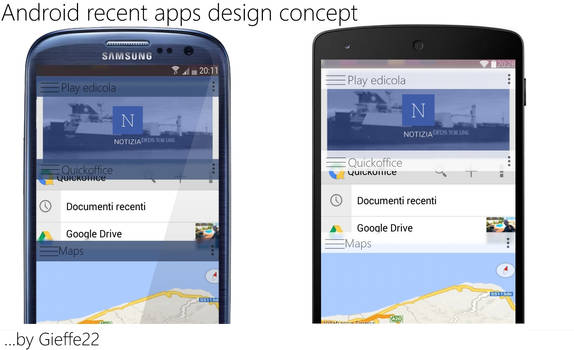Android recent apps concept