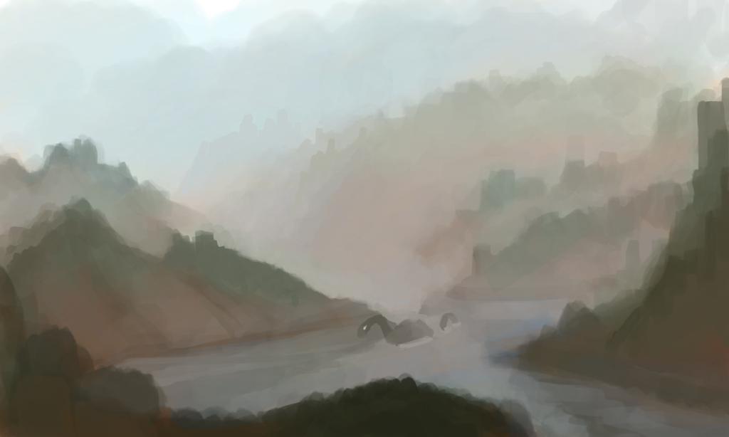 foggy Lake by Zalogon