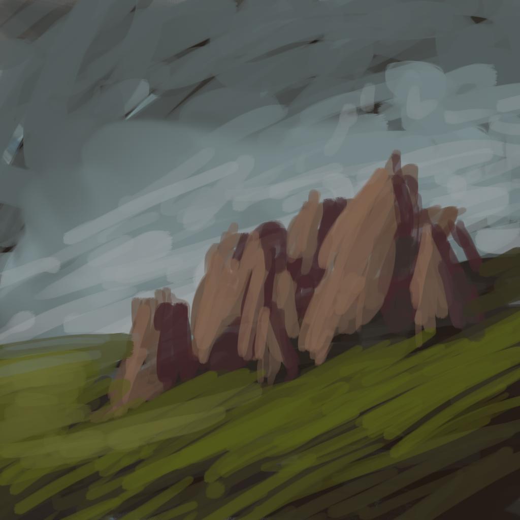 Rocks Sketch by Zalogon