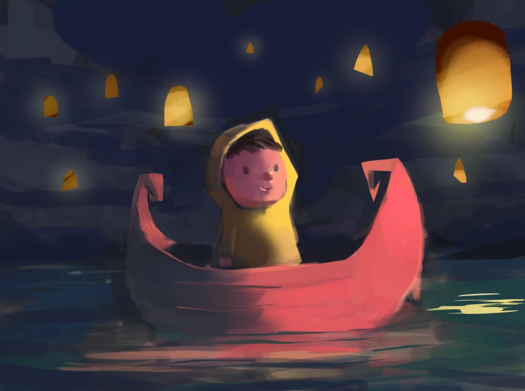 Sky lantern by Zalogon