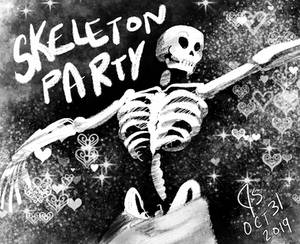 INKTOBER DAY 31-SKELETON PARTY