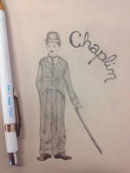 Chaplin on the desk