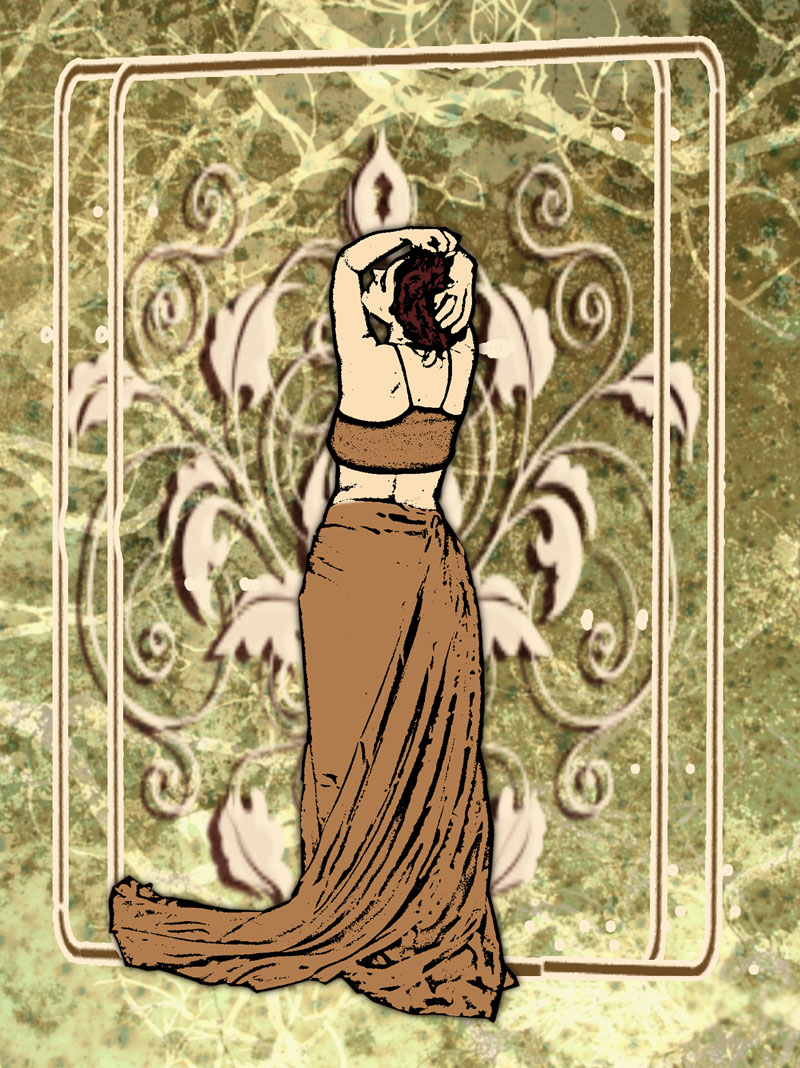 art nouveau with kittyd stock