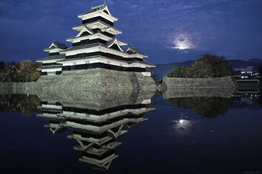 Matsumoto Castle at Night by prozzaks
