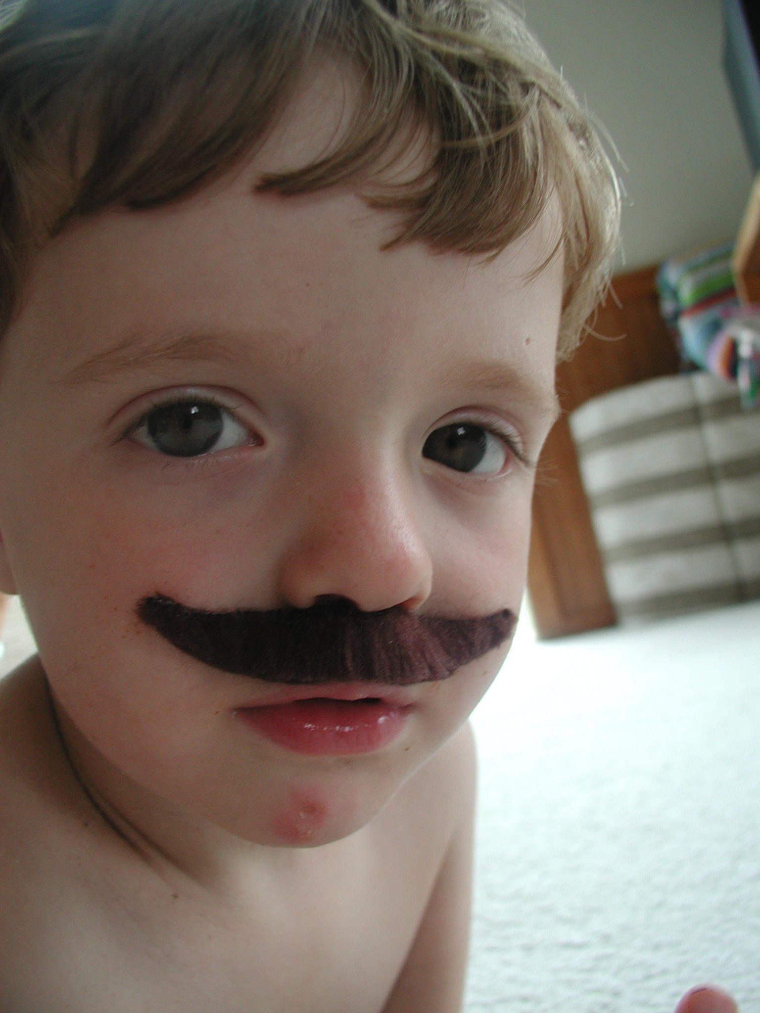 What baby is born with a mustache - a mystery for the little ones 61