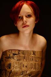 paper bag dress 3 by AttempteStock