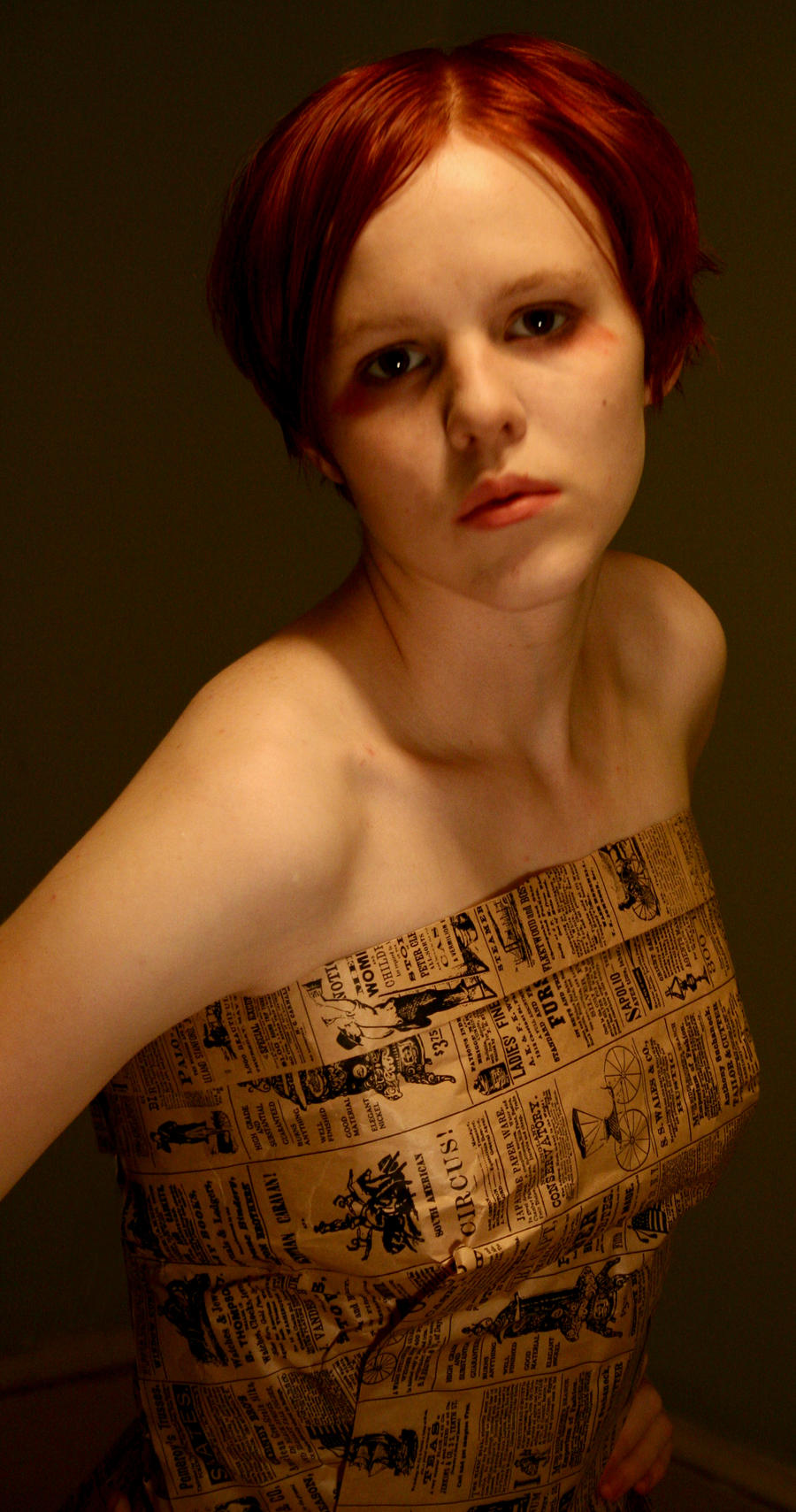 paper bag dress 4 by AttempteStock