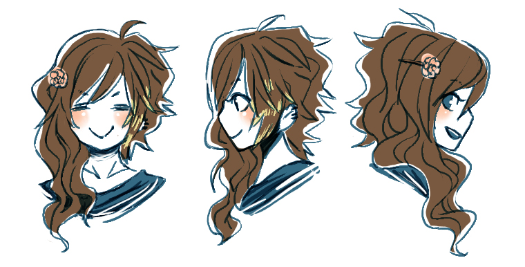 + tomo's hairstyle chart + by Bunny-Boss on DeviantArt