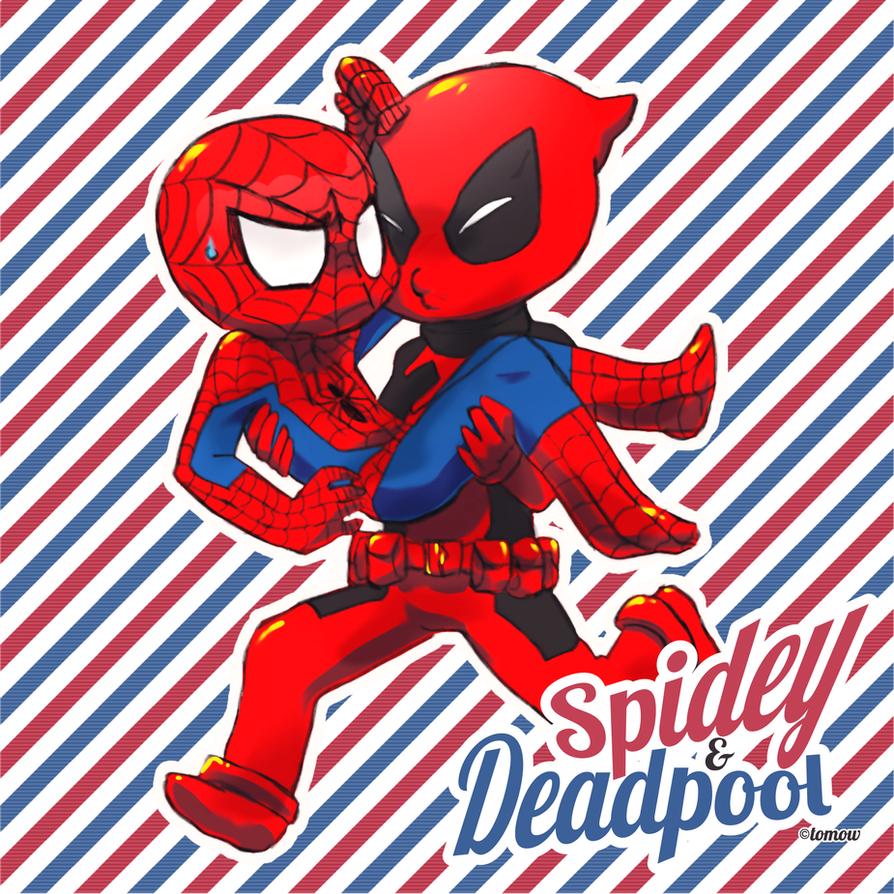 + Spiderman x Deadpool + by Bunny-Boss
