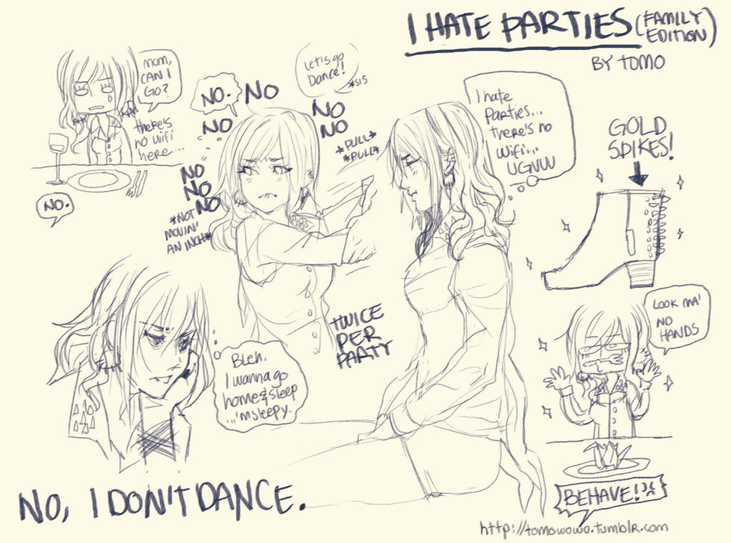 + I don't like parties + by Bunny-Boss