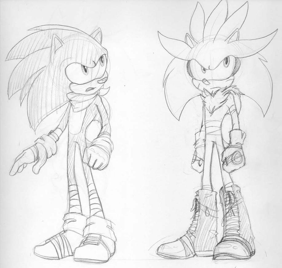 Sonic and Silver Boom by Silvermoonlight448