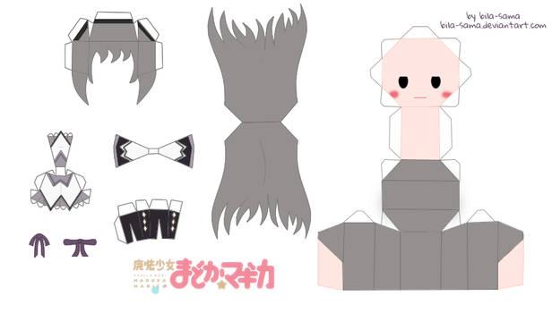 Homura Akemi Chibi Papercraft