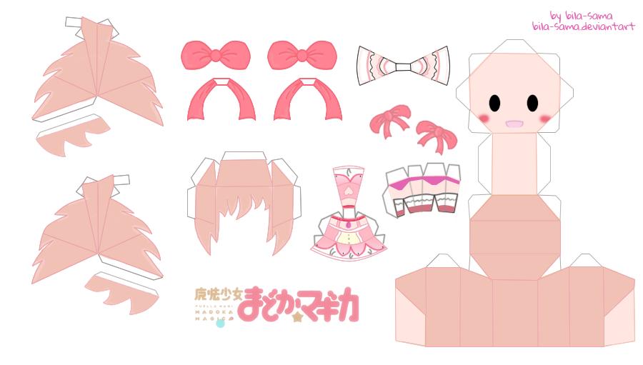 Kaname Madoka Chibi Papercraft by Bila-sama