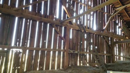 Barn Interior 2, parents farm in Iowa.