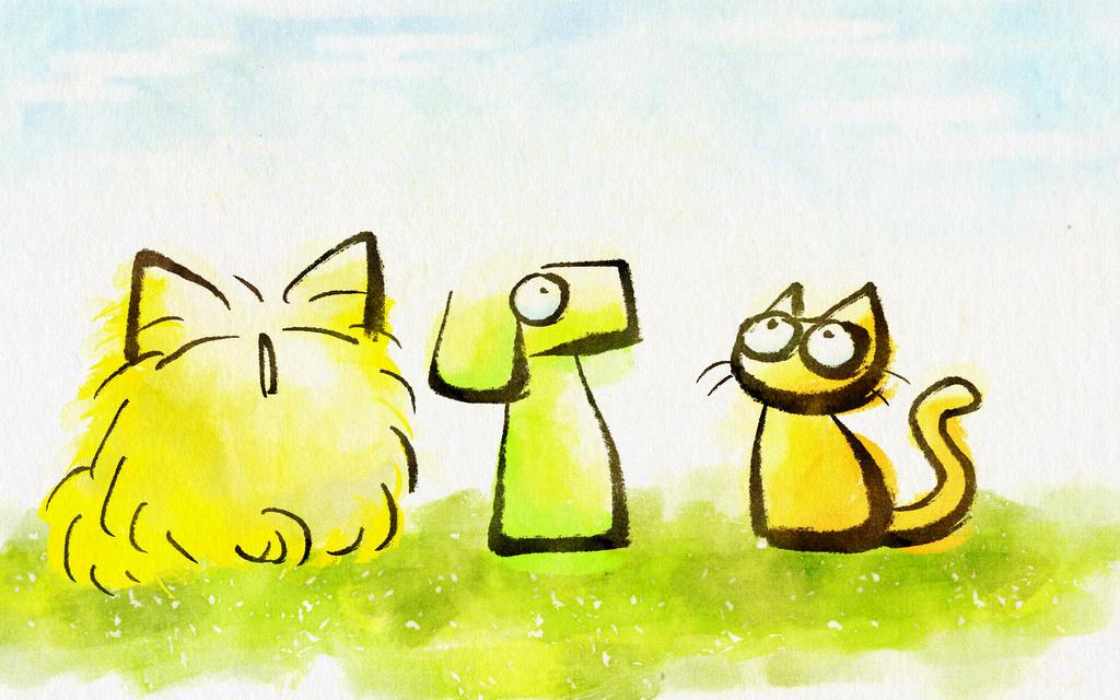 kitten puppy by nekomeandon