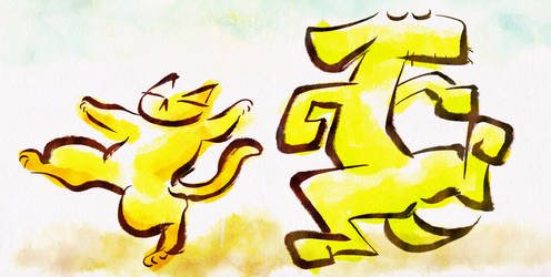 Dancing dogs and cats