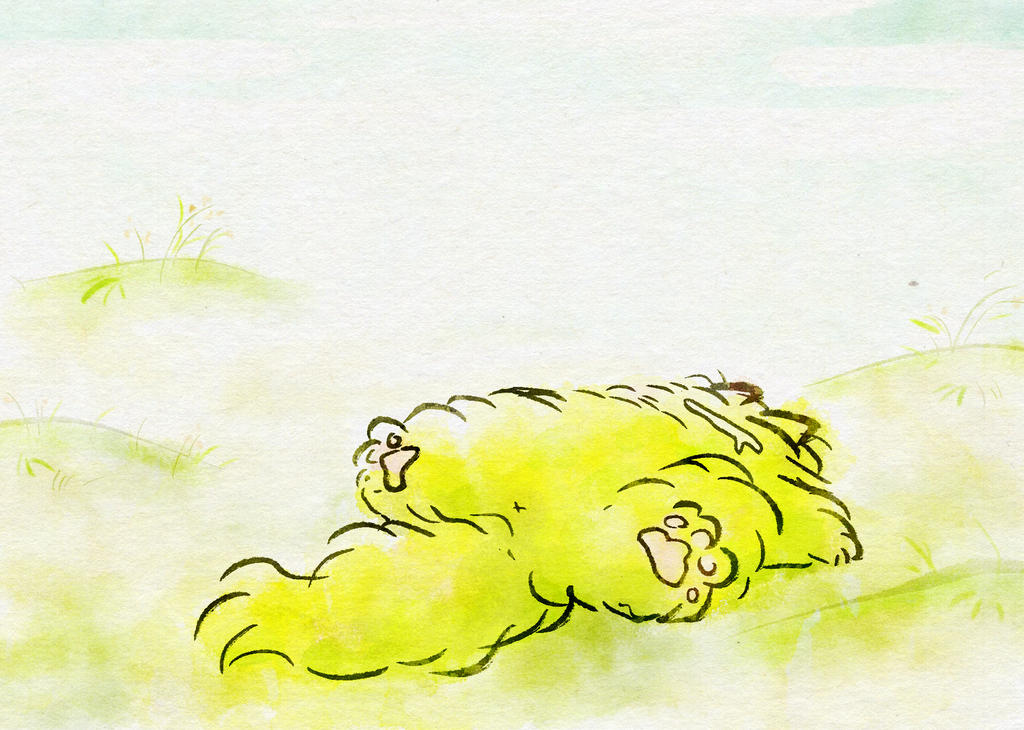 Warm day cat by nekomeandon