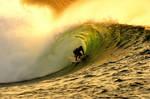 a golden wave